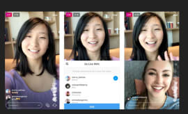 Instagram's stock photo for their new video chat feature.