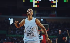 Stephen Curry Playing Basketball in China