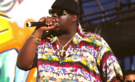 Biggie performs.