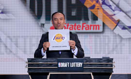 Mark Tatum Deputy Commissioner of the NBA announces the 2nd pick