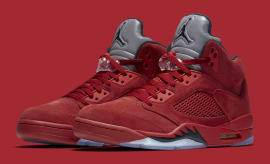 Air Jordan 5 Red Suede Release Date Main 136027-602