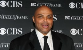 Charles Barkley walks the red carpet.