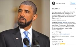Drake/Obama meme on IG.