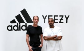 adidas CMO Eric Liedtke and Kanye West at Milk Studios