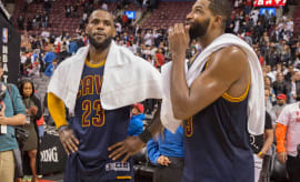 LeBron James and Tristan Thompson.