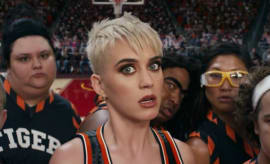 "Katy Perry is her ""Swish Swish"" music video."