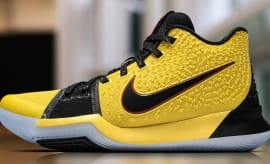 Kyrie Irving Nike Kyrie 3 Black Yellow Finals PE Profile
