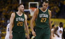 Gordon Hayward and Rudy Gobert.