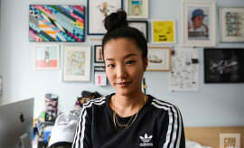 Sophia Chang in her NYC apartment.