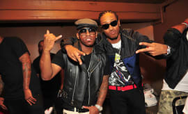 Rocko and Future backstage at the The Masquerade