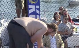 mma fighter puking