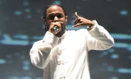 Kendrick Lamar performs at Coachella.