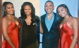 Sasha Obama and parents