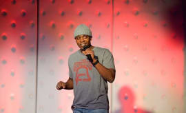 Comedian Dave Chappelle gives a surprise performance at the Birthday Celebration For Chris Spencer