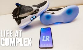 First Ever Nike Self-Lacing Basketball Sneaker In Hand | Life At Complex