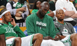 Paul Pierce, Kevin Garnett, and Ray Allen.