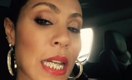 Jada Pinkett Smith with grillz