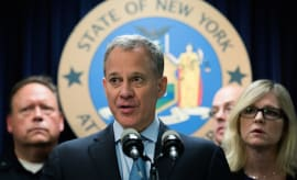 New York Attorney General Eric Schneiderman speaks