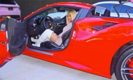 blac chyna in a car