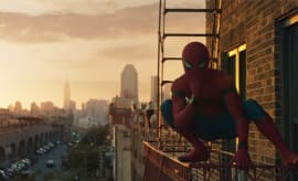 Spider-Man: Homecoming fire escape scene