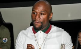 Floyd Mayweather attends an event in Los Angeles.