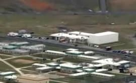 Delware prison employees held hostage.