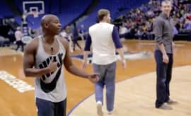Dave Chappelle drops bricks during visit to the Target Center.