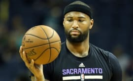 DeMarcus Cousins warms up before a game.
