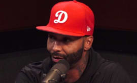 This is a screenshot of Joe Budden on 'Ebro in the Morning.