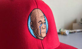 crying jordan softball team hat