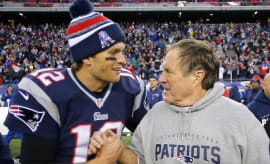 Tom Brady Bill Belichick Handshake 2015 Playoffs