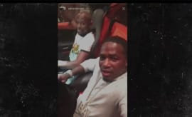 Adrien Broner and Floyd Mayweather riding in a Bugatti together.