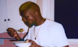 Kanye eats