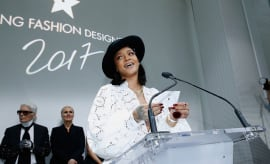 Singer Rihanna presents the 'Young Fashion Designer' : LVMH Prize