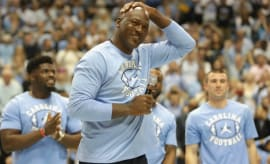 Michael Jordan at a UNC/Duke game.