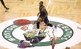 LeBron James Boston Celtics Logo TD Garden 2017