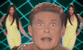 david hasslehoff close up