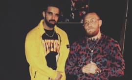 Conor McGregor posts picture of himself and Drake on Instagram.