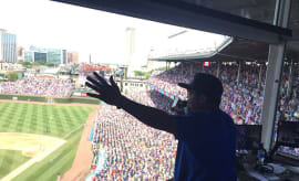 ice cube at the cubs game