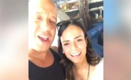 Vin Diesel and Jordana Brewster