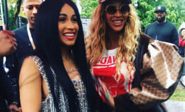 cardi b and beyonce at Made In America