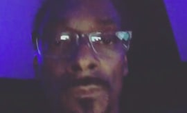 This is Snoop Dogg previewing a new song on his Instagram.