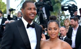 Carmelo and La La Anthony, during happier times.
