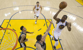 Kevin Durant Warriors Spurs Oct 2016