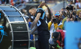 Golden State Warriors player and Carolina Panthers fan Stephen Curry.