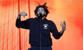 J. Cole performs during the 2016 The Meadows Music & Arts Festival at Citi Field