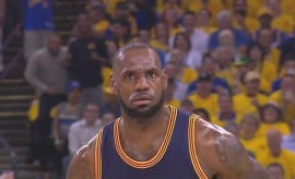 LeBron James' mean mug