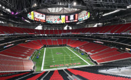 Mercedes Benz Stadium, a.k.a. the new home of the Atlanta Falcons.