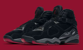 Air Jordan 8 Bred Black Gym Red Wolf Grey Release Date Main 305381-022