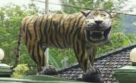 An Indonesian statue that was destroyed after one too many online jokes.